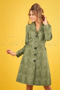 60s Erin Purr Trenchcoat in Putty Ecru