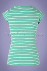 Mademoiselle Yeye 27055 Tshirt Casual Eleganze Green Striped White Goodgirl 20190207 007W