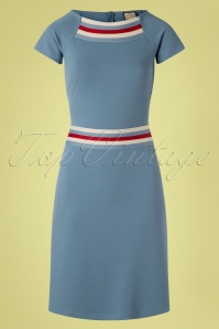 60s A Trip To Rome Dress in Stone Blue
