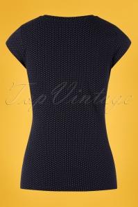Mademoiselle Yeye 27054 Tshirt Polkadot Blue White Lemon Yellow 20190207 009W