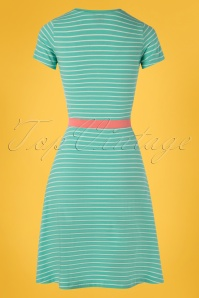 c376e7e840a1 ... Mademoiselle Yeye 27062 Oh Yeah Dress Green Striped Belt 20190207 008W