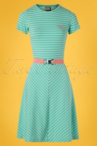 Mademoiselle Yeye 27062 Oh Yeah Dress Green Striped Belt 20190207 002 Wjpg