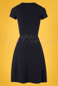 Mademoiselle Yeye 27063 Oh Yeah Dress Blue Polkadot Lemon Yellow 20190207 007W