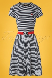 60s Oh Yeah Stripes Dress in Blue and White