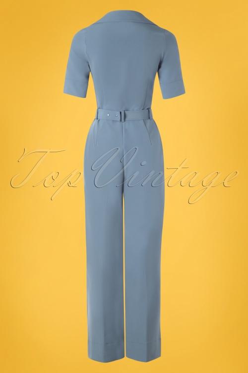 Mademoiselle Yeye 27075 Vintage Baby Jumpsuit Blue Belt 20190207 009W 489b317b7