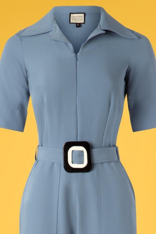 25b8979d7d50 Mademoiselle Yeye 27075 Vintage Baby Jumpsuit Blue Belt 20190207 003V