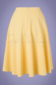 Vintage Chic 28777 Yellow Jacquard Swing Skirt 20190208 005W
