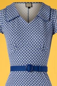 Mademoiselle Yeye 27076 Dress Vintage Mom Blue Belt 20190207 001V
