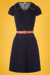 cc7293eee6d4 ... Mademoiselle Yeye 27077 Vintage Mom Denim Blue Pink Belt Dress 20190207  001W