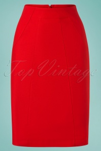 60s Revolutionary Elegant Skirt in Red