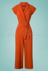 60s Doris Culotte Jumpsuit in Clay Red