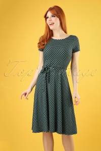 60s Sally Saffron Dress in Black