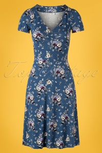 60s Mon Amour Dress in Blue