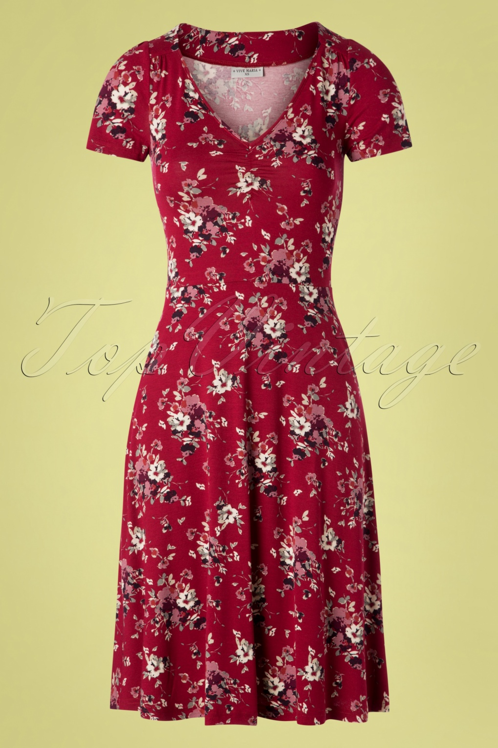 60s Mon Amour Dress in Red