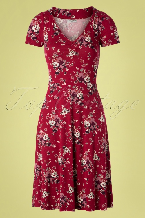 Vive Maria 27012 Mon Amour Dress Red Flower Purple 20190207 002W
