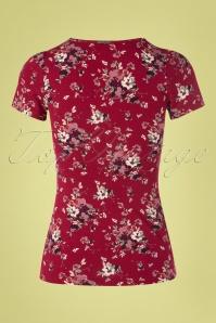 Vive Maria 27022 Mon Amour Red Floral Purple Tshirt 20190207 007W