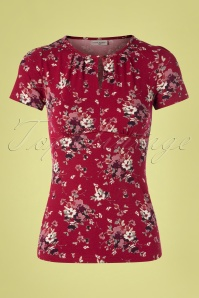 60s Mon Amour Shirt in Red
