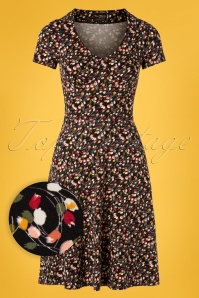 Vive Maria 60s La Tulipe Dress in Black