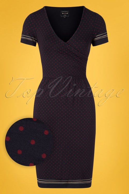 Vive Maria 27015 Deauville Dress Blue Red Polkadot 20190207 002W1
