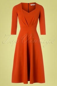 Vintage Chic for TopVintage 50s Ruby Swing Dress in Cinnamon