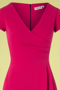 Vintage Chic 28744 50s Crystal Pencil Dress in Magenta 20190208 003V