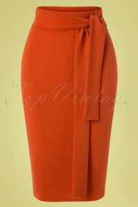 Vintage Chic for TopVintage 50s Shana Pencil Skirt in Cinnamon