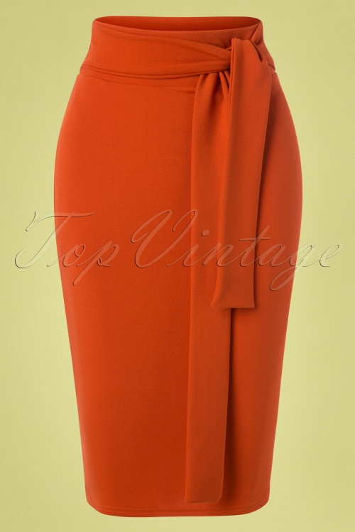Vintage Chic 28723 Skirt Pencil Cinnamon 20190207 001W