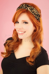 50s Leopard Head Band in Brown and Black