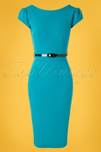 Vintage Chic for TopVintage 50s Tina Pencil Dress in Blue
