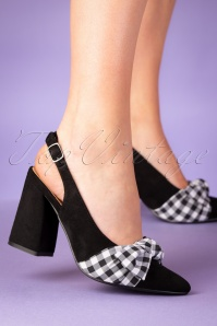 60s Yoora Slingback Pumps in Black