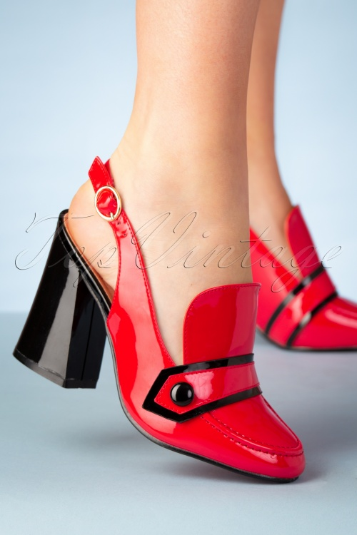 Banned Retro 26918 Red Black Mary Jane Heel 20190205 002W
