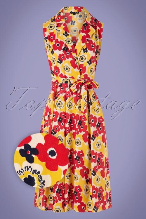 Pretty Vacant 27553 Collar Wrap Poppy Dress 20190208 002Z
