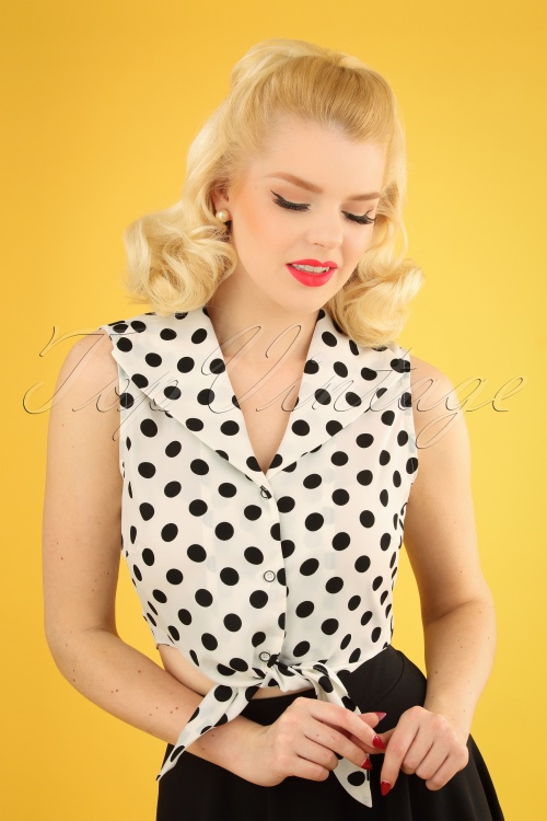 Banned 28460 Polka Love Tie Top 20181219 1W