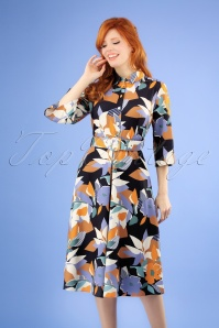 60s Theresa A-Line Shirt Dress in Multi