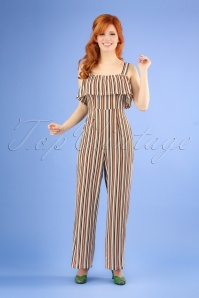 Banned Retro 70s Summer Salsa Jumpsuit in Sand
