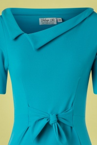 Vintage Chic 28742 Pencil Dress in Turquoise 20190208 002V