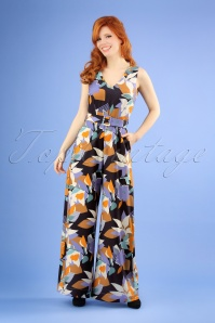 70s Fifi Floral Jumpsuit in Multi