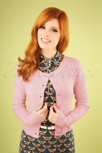 Dancing Days by Banned Dolly Cardigan in Pink 140 80 25912 20180516 1W
