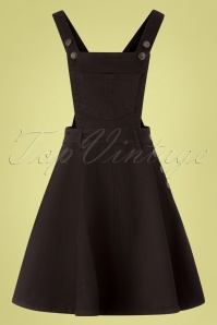 50s Dakota Pinafore Dress in Black