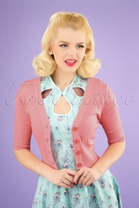 50s Overload Cardigan in Rose