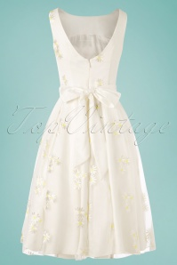 Collectif Clothing 27475 Vanessa Daisy Ivory White Yellow Dress 20190212 005W