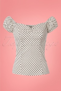 Dancing Days by Banned White Polkadot Top 110 59 24253 20180327 0001WW