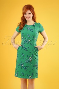 50s Mona Amalfi Dress in Fern Green