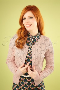60s Claudia Cardigan in Blush