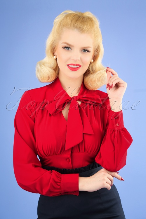 Steady Clothing 26967 Red Tie Blouse 20190111 1W