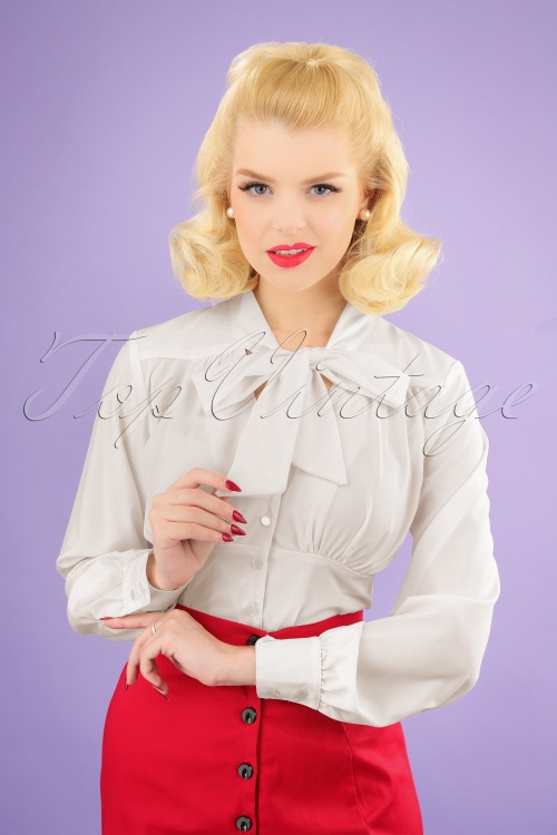 Steady Clothing 26969 White Tie Blouse 20190111 1W