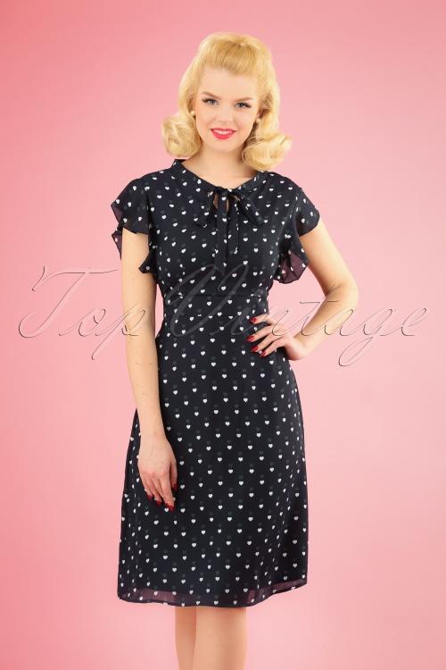 Sugarhill Brighton 27667 Navy Hearts Dress 20190111 1W