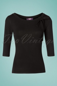 TopVintage Boutique Collection 28788 Black Bow Top 20190122 003