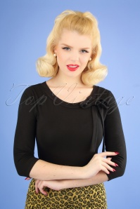 50s Janice Top in Black