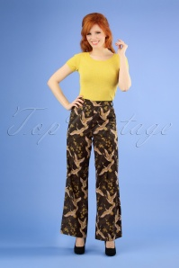 70s After The Rain Trousers in Black